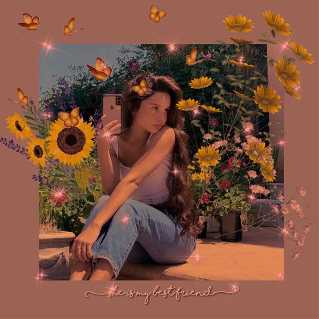 #picsart #freetoedit #tiktok #instagram #pinterest #wallpaper #wattpad #flowers #yellow #butterfly #lights #stars #effect