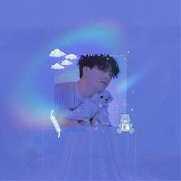 got7 got7youngjae youngjae interesting aesthetic blue korea kpopedit replay cote tumblr freetoedit