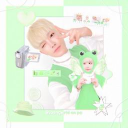 freetoedit hongjoong kimhongjoong edwardkim ateez atiny green cute aesthetic soft joongwrld kpop