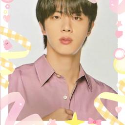 freetoedit jin seokjin polca polco polcos bts bangtan polaroid cute pink