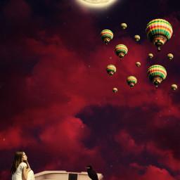 freetoedit picsart srcflyingairballoons flyingairballoons
