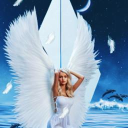 girl angel love life byme challenge picsartchallenge art sea stars freetoedit picsart ircpaperplane paperplane