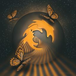 butterflies tinyplaneteffect madewithpicsart myedit surrealfantasy freetoedit default