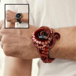 octopus watch octopuswatch art pucsart heypicsart hand hendart time accessories freetoedit picsart fcimaginationsplash imaginationsplash