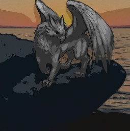 freetoedit griffin griffen art comic fantasy fantasyart fantasyland sea sky sunset seaside griffins hippogriff hippogreif hippogriffeforever