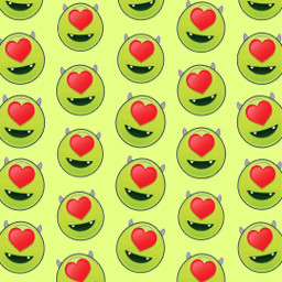 freetoedit remix wallpaper disney monsterinc green patternator mikewazowsky