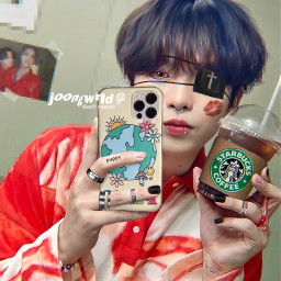 freetoedit jongho choijongho jjong ateez atiny manipulation goth emo piercing tattoo joongwrld kpop