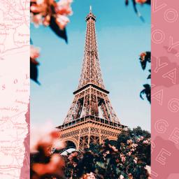 freetoedit remix wallpaper paris pink travel