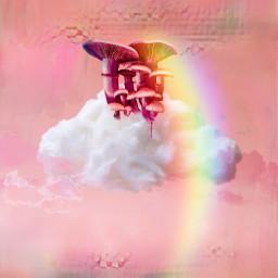 shrooms challengeoftheday pinkclouds sky freetoedit picsart ircgentlecloud gentlecloud