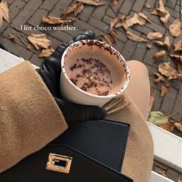 aesthetic asthetic aesthetics asthetics autumn halloween fall leaves hotchocolate hotcoco