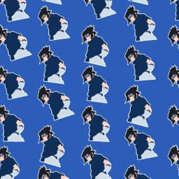freetoedit remix wallpaper narutoshippuden sasukeuchiha patternator blue