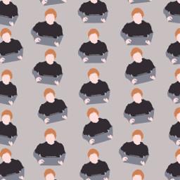 freetoedit remix wallpaper edsheeran patternator gray singer pop