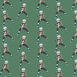 freetoedit remix wallpaper anime narutoshippuden kakashi green patternator