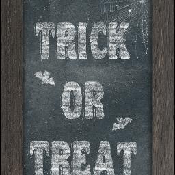 chalkboard trickortreat words text halloween local