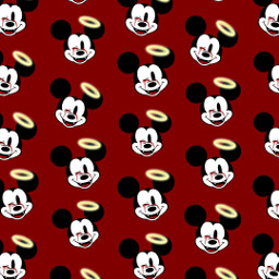 freetoedit remix wallpaper disney mickeymouse red patternator