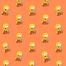 freetoedit remix wallpaper color thesimpsons patternator orange lisa