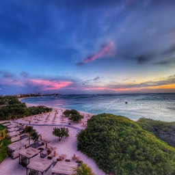 photography travel nature beach sky sunset colorful freetoedit