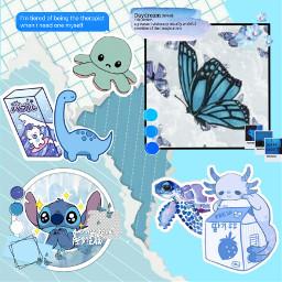 blue aesthetic edit stich milk axolotl pastel butterfly poky dinosaur freetoedit default