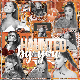 freetoedit arianagrande ariana grande halloween hauntedbyyou complex edit complexedit fall cloudydaisies orange white talent ari ily