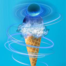 blueplanet icecreamcone challengeoftheday clouds swirls freetoedit picsart ircicecreamcone