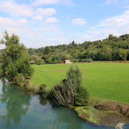 freetoedit landscape nature countryside fields river hill woods trees italy myphotography