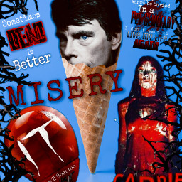 stephenking author favoriteauthor horror misery carrie it iadore freetoedit picsart ircicecreamcone icecreamcone