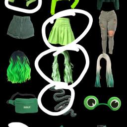 greenaesthetic greenoutfit freetoedit