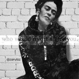 myedit fridakahlo sitting blackandwhite edit frida unibrow_queen freetoedit picsart