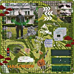 freetoedit michealmyers halloween halloweenmovie spookyseason aesthetic greenaesthetic grungefairycore