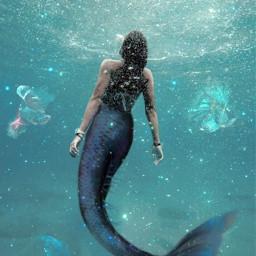 splash sea sereia ocean magical freetoedit
