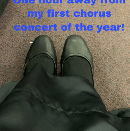 chorus singing concert nervous eek