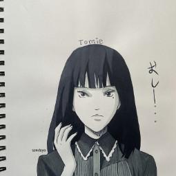 junjiito tomie anime drawing sketch ji sandayo