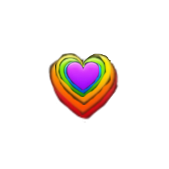 rainbowheart emoji freetoedit default