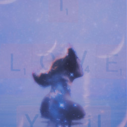 freetoedit iloveyou purple sky moon water ocean biew pretty sparkles moons cresent cresentmoon