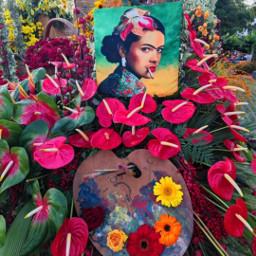 fridakahloinspired celebration frida fridakahlo unibrow_queen art flowers