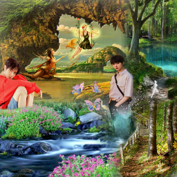fantasy sarahsalsas freetoedit txtbeomgyu beomgyuedit kpop kpopedit surreal fantasyworld beautiful scenic fairies naturebackground pretty aesthetic txt ifollowback