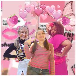 freetoedit sophiegillian serenamarable ambergregory besties bestfriends bff girlygirls pinkaesthetic pink pastelpink pastelpinkaesthetic pastelcolors