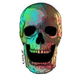 ac_digital_art art artist picsart picsartedit painting drawing portrait graphicart graphicdesign vectorart vector vectors digitalart digitalpainting digitaldrawing holloween skull tiydye