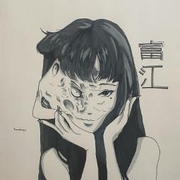 junjito anime art creepy scary tomie sandayo drawing