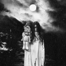 freetoedit mastershoutout artistoftheweek myremix remixeedit darkart blackandwhite scary spooky fear moon clouds sky night halloween halloweenspecial picsartmakeawesome heypicsart createdbyme local