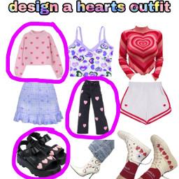 freetoedit design hearts outfits clothes shirts skirt pants shorts shoes