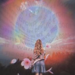 freetoedit moon planets flowers girl blonde blondegirl teenager teen teenagegirl stars night sky nightsky