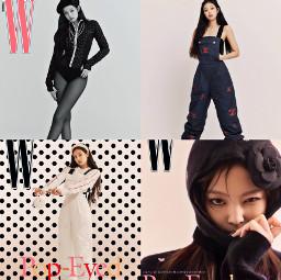 jennie kimjennie jenjen w wmagazine wkorea jendukie nini chanel humanchanel queen freetoedit local