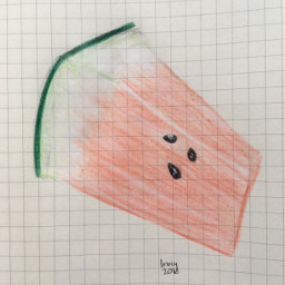 freetoedit anime watermelon cute drawing youngartist yeah