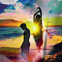 freetoedit picsart ircsunsetsilhouette sunsetsilhouette