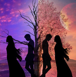 freetoedit competition love ircsunsetsilhouette sunsetsilhouette