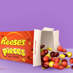 freetoedit mydrawing candy sweets food orangeandpurple trickortreat reeses pieces reesespieces et drawnwithpicsart