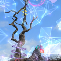 geometric challengeoftheday tree neon freetoedit unsplash srcpurplemagic purplemagic