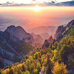 pordosol sunset amanhecer natureza landscape paisagem montanhas mountains ceu sky sol freetoedit