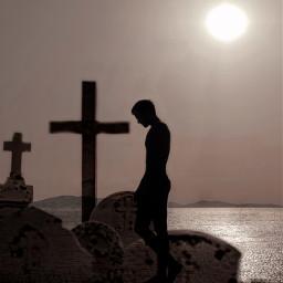 cemetery cementerio sea ocean mar oceano freetoedit picsart unsplash ircsunsetsilhouette sunsetsilhouette